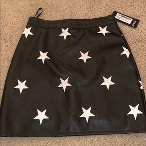 Pleather Star Skirt